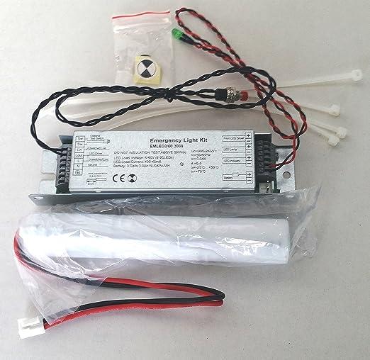Batterie Per Lampade Di Emergenza Ova.Kit Emergenza Alimentatore Anti Black Out Per Luci Led Con