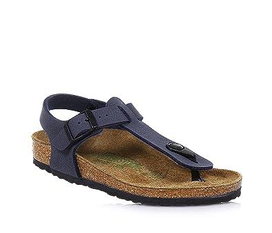 BIRKENSTOCK Sandale bleue en nubuck, semelle intérieure en liège, enfant, garçon,