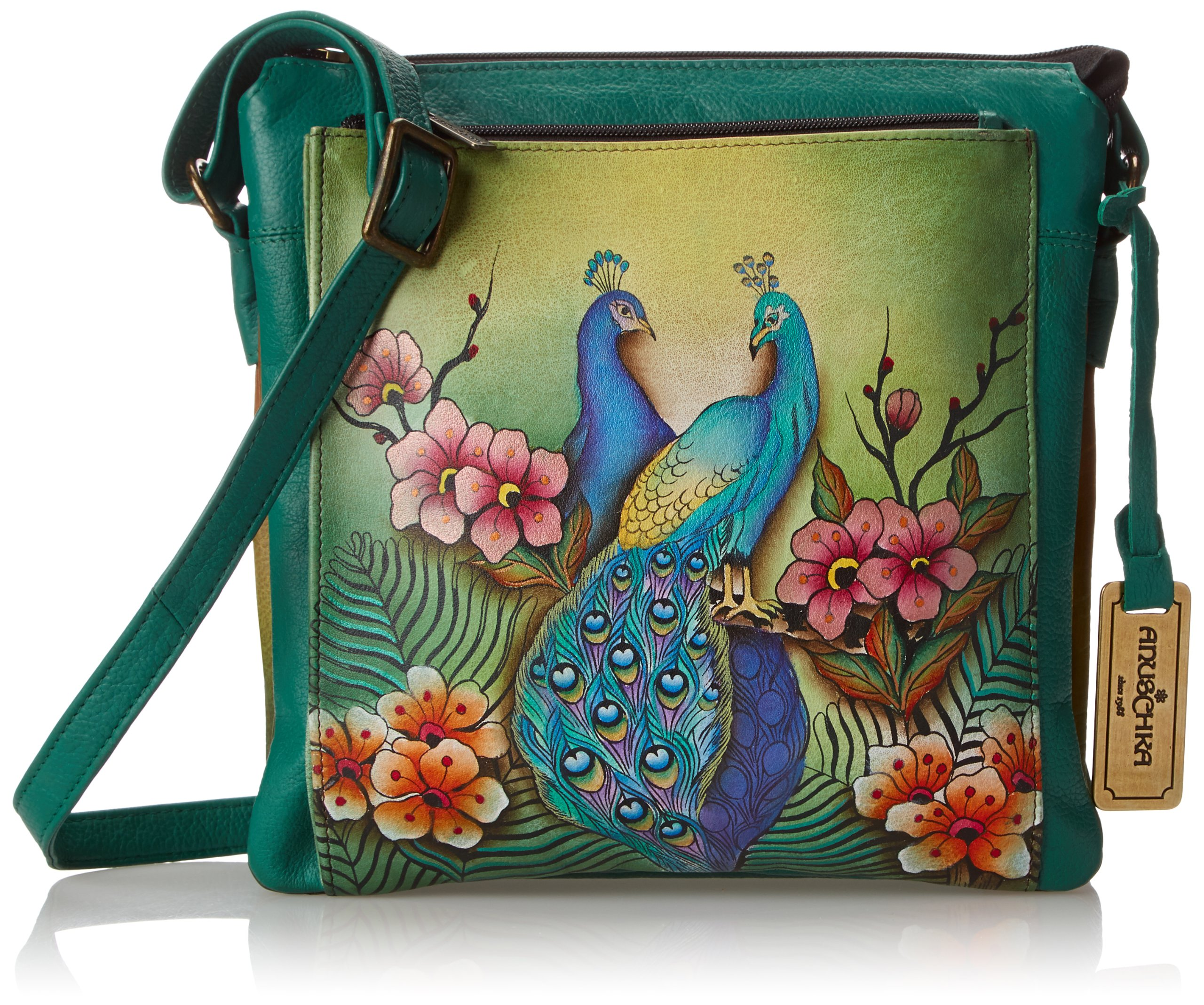 Anuschka 520 Shoulder Bag,Passionate Peacocks,One Size
