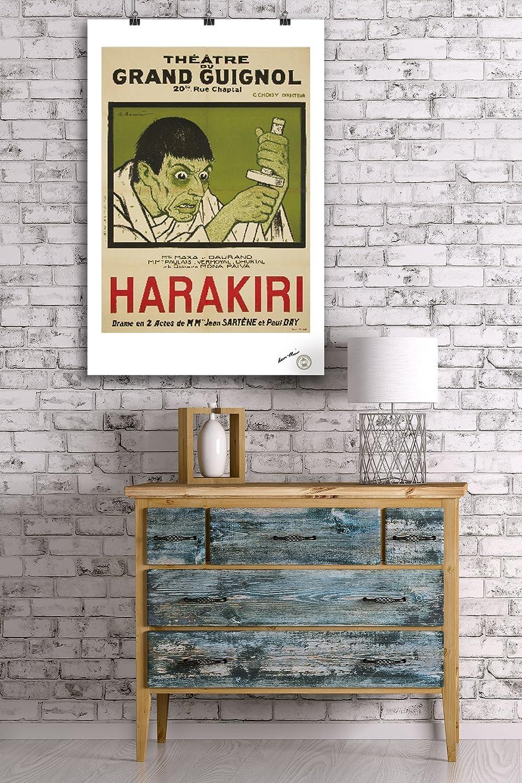 Amazon.com: Grand Guignol - Harakiri Vintage Poster (artist: Barrere ...