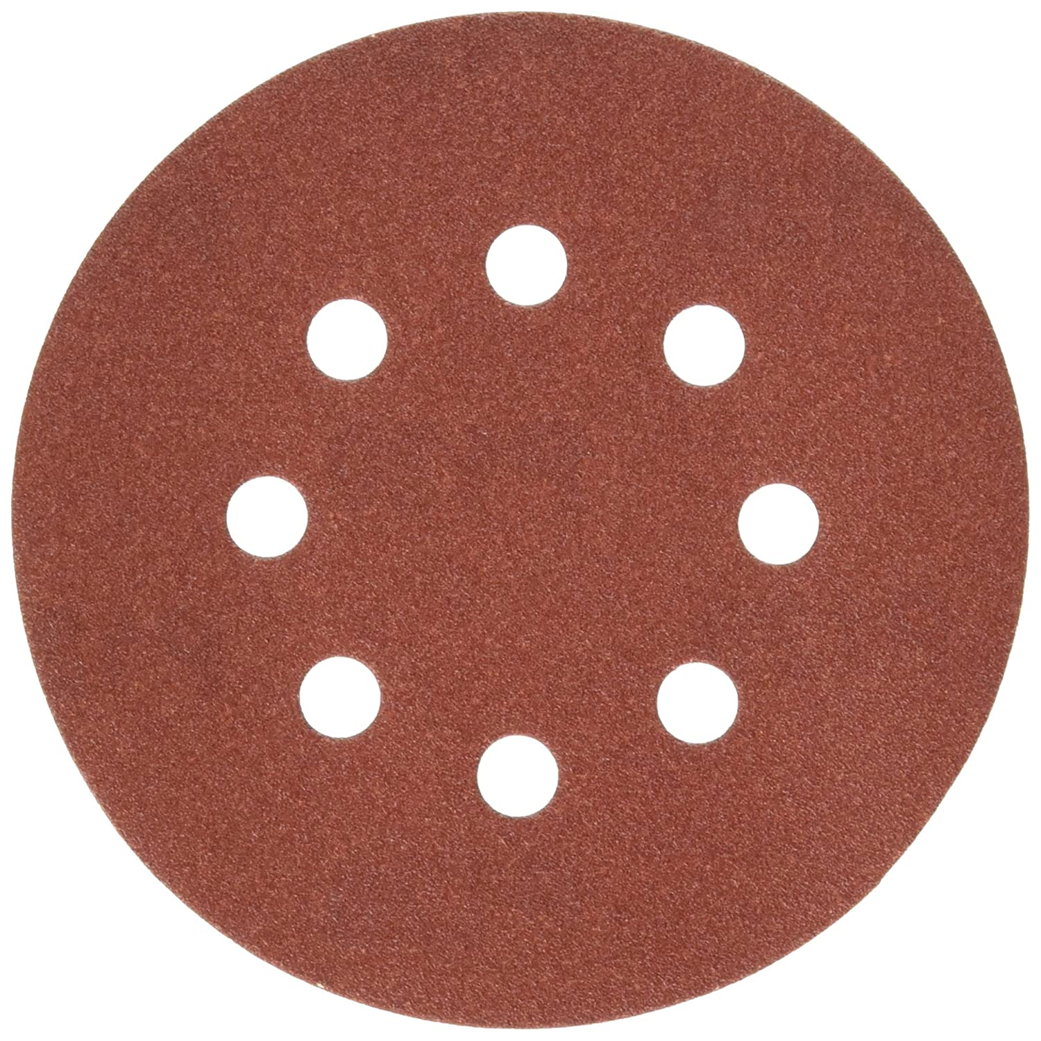PORTER-CABLE 735801225 5-Inch 8-Hole Hook and Loop 120 Grit Sanding Discs 25-Pack