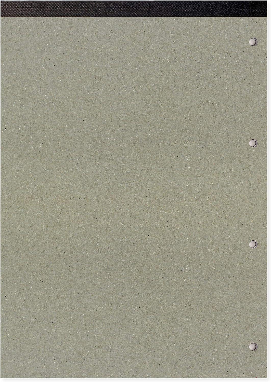 160 fogli Blocco di fogli di ricambio formato A4 Single con rilegatura sul lato superiore e con 4 fori Grafico 2-10-20 mm Silvine