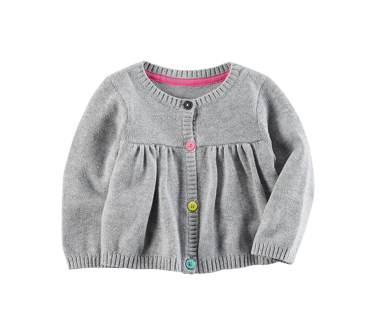 Carters Baby Girls Button Front Knit Cardigan