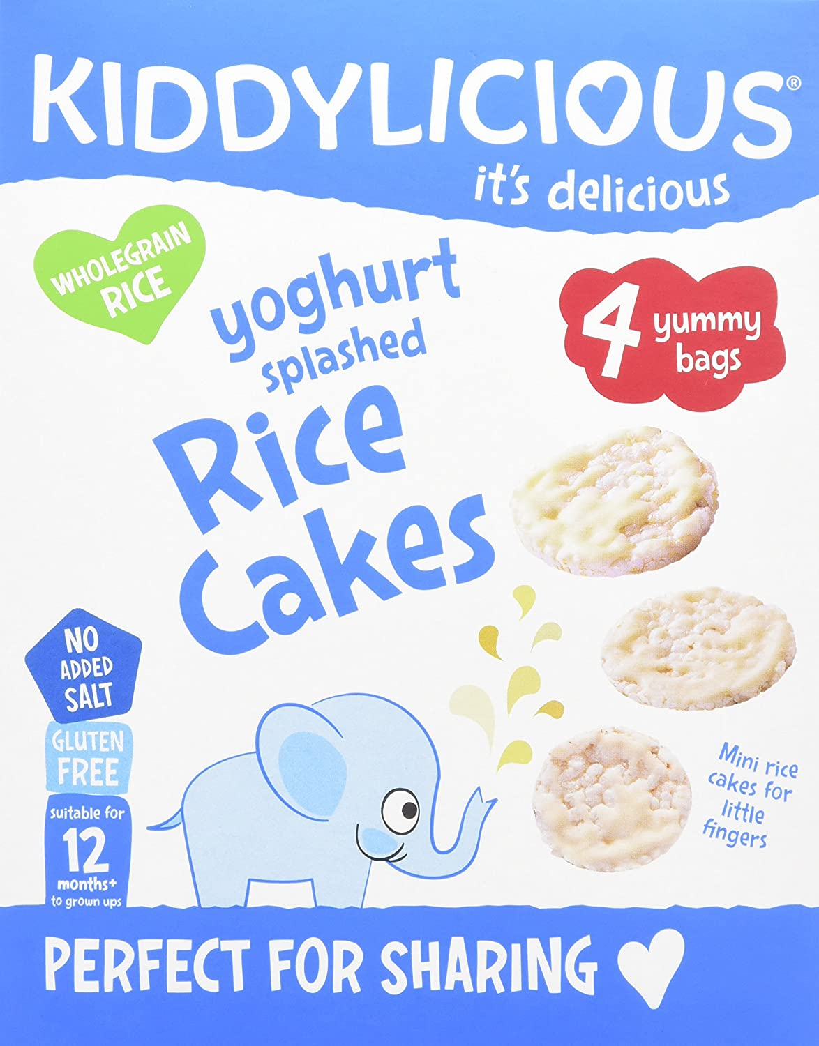 Kiddylicious Yoghurt Splashed Rice Cakes, Pack of 4, Total 16 Kids Food Co 1080220
