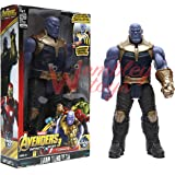 VOODANIA MaVEL JUSTINE LEAGUE Super Hero Legends - 12 Inch Action Figure Toy with Sound and Batteries (Thanos)