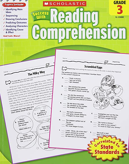 Workbook first grade worksheets pdf : Scholastic Success with Reading Comprehension, Grades 1 ...