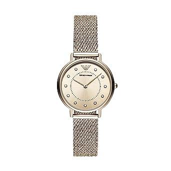 5bbd2b423411 Emporio Armani Damen Analog Quarz Smart Watch Armbanduhr mit Edelstahl  Armband AR11129