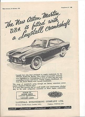 Amazon Com 1958 Vintage Magazine Print Ad For Aston Martin Db4 Cars