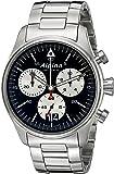 Alpina Men's AL-372BS4S6B Startimer Pilot Chronograph Big Date Analog Display Swiss Quartz Silver-Tone Watch