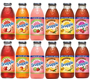 Snapple Tasters Edition! Variety Pack of 12, All original Flavors, Plastic bottles