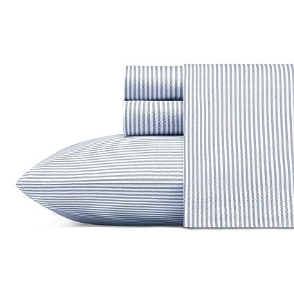98c64ce6bc26 Amazon.com: Poppy & Fritz Oxford Stripe Sheet Set Queen Blue: Home ...