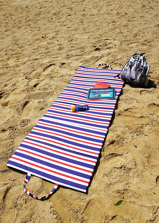 Ferocity 2er Piezas Paquete Colchoneta de Playa Set Plegable Manta de Picnic SPA Verano colch/ón Impermeable Camping Exterior Modelo 4 061
