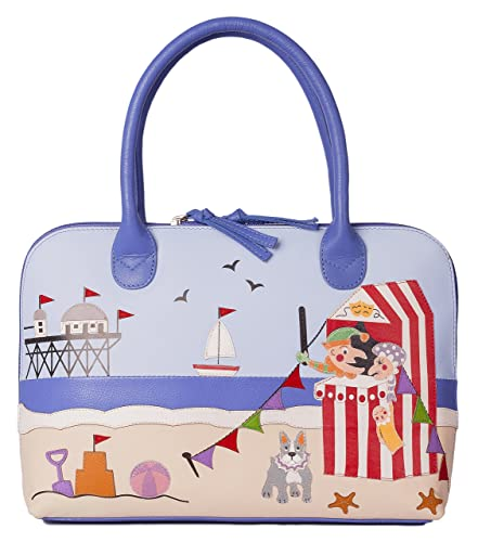 645b49b497 Beau dog GRAB bag by Mala Leather 7126 premium leather holiday Punch   Judy  theme  Amazon.co.uk  Shoes   Bags