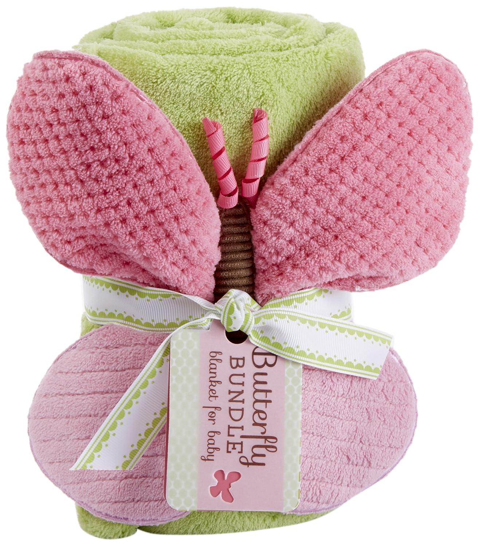 Baby Aspen Plush Velour Baby Blanket, Butterfly BA12022NA