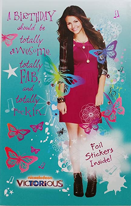 nickelodeon victorious happy birthday greeting card for a sweet girl totally awesome