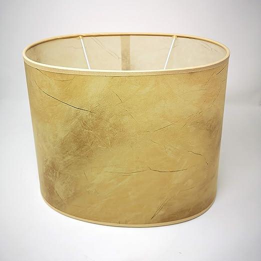 Pantalla para lámpara de pie, pergamino amarillo marmolado, pantalla de repuesto para lámpara de pie, cilíndrica, diámetro 18,5 cm – 32,5 cm, para casquillo E27: Amazon.es: Iluminación