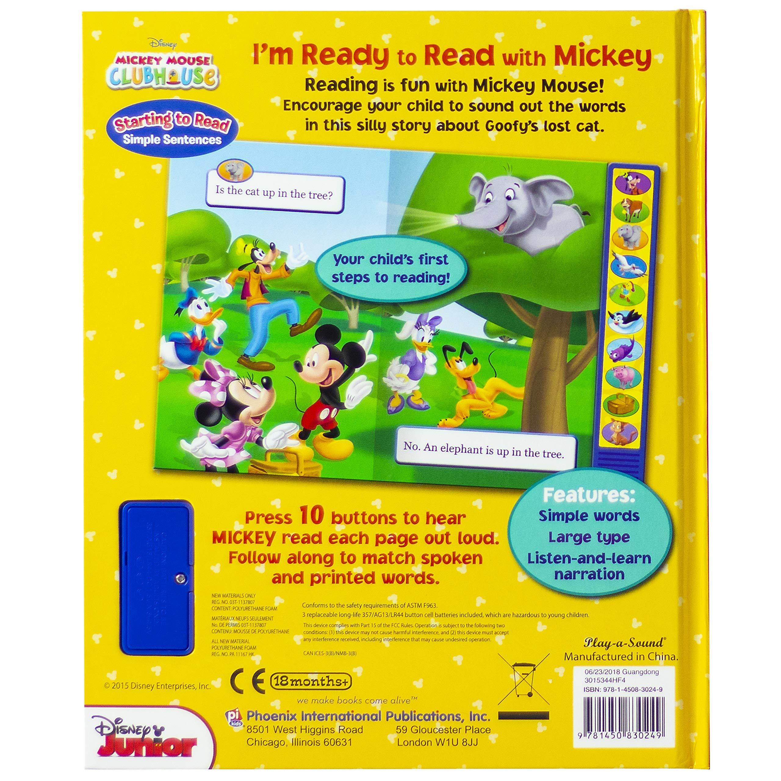 Amazon.com: Disney Mickey Mouse Clubhouse - I'm Ready to Read With Mickey -  Play-a-Sound - PI Kids (9781450830249): Jennifer H. Keast, Editors of  Phoenix ...