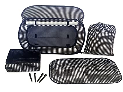 Portable Pet Cage - Best Exercise Playpen Kennel for Cats Dogs Rabbits H&sters and Guinea Pigs  sc 1 st  Amazon.com : litter box tent - memphite.com