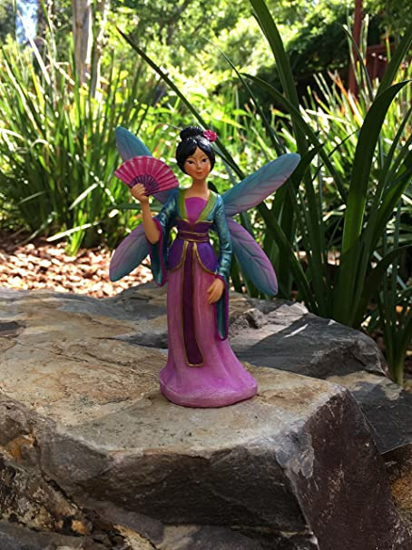 Hada en Miniatura Kai Preciosa Hada Asiática para tu Jardín de Hadas / Jardín en Miniatura: Amazon.es: Hogar