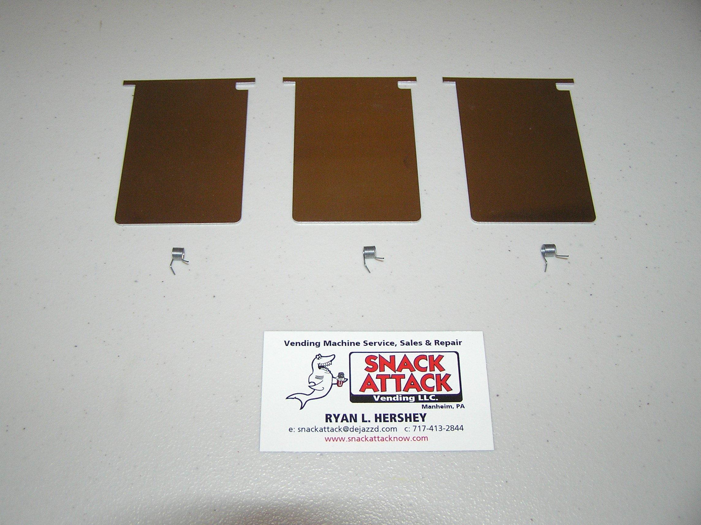 VENDSTAR 3000 (3) STAINLESS STEEL CHUTE DOORS & SPRINGS - L@@K! /! by Snack Attack Vending