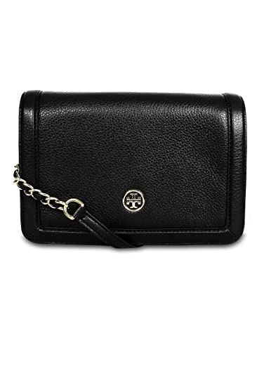 da70c547ed7 Image Unavailable. Image not available for. Color  Tory Burch Landon Combo  Pebbled Leather Crossbody Black
