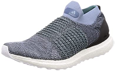 low priced e4f06 787c7 Adidas Men's Ultraboost Laceless Parley Rawgre/Carbon/Bluspi ...