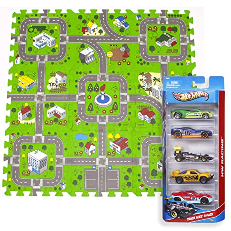 Amazoncom Exultimate Play Mat Road Toy Foam Playmat Interlocking