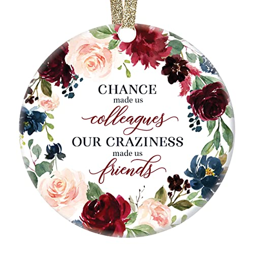 Teacher Boss Holiday Gift for Mom White or Holographic Christmas Ornament Coworker Girlfriend Friend Dad