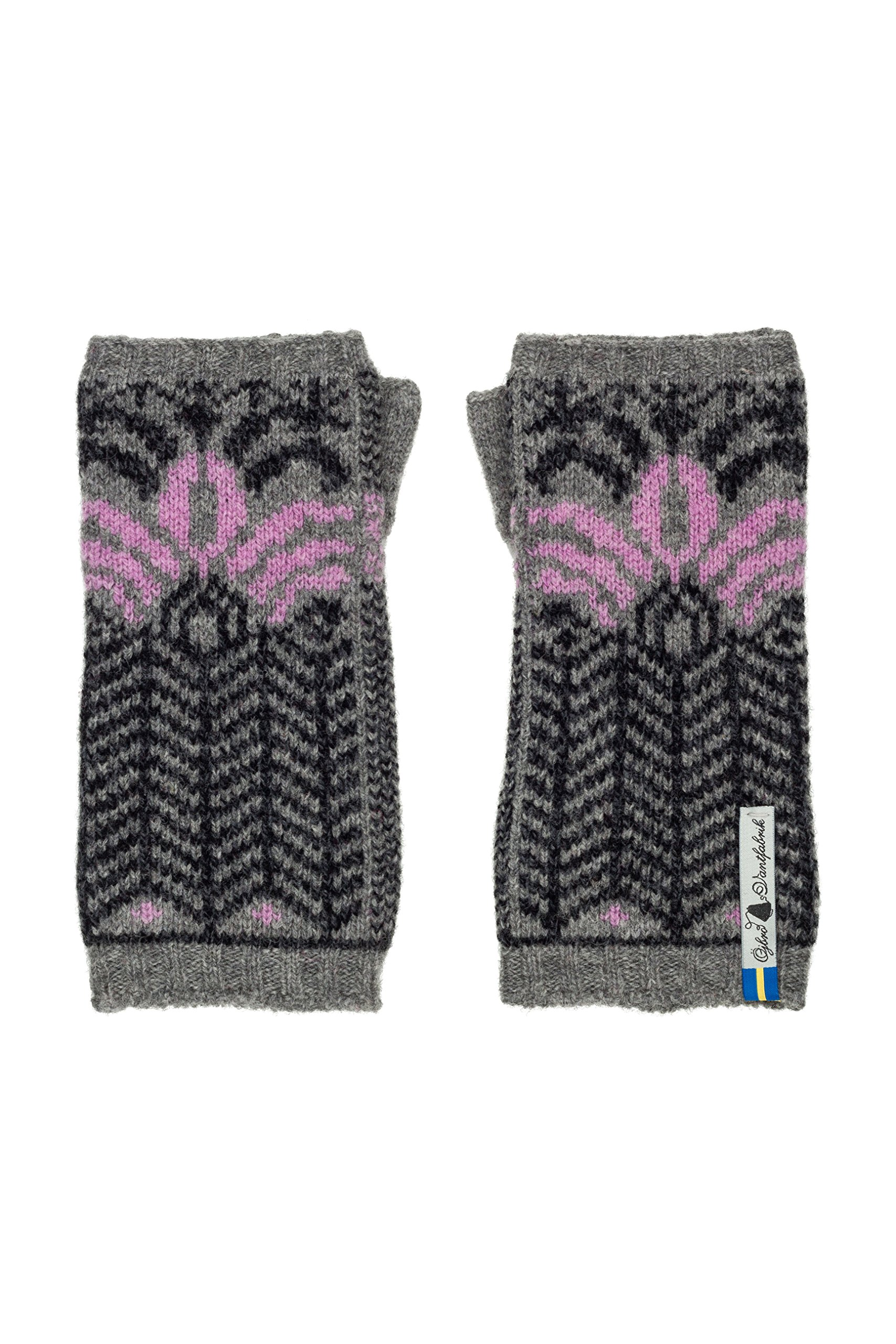 Öjbro Swedish made 100% Merino Wool Soft & Warm Wrist Warmers (as Featured by the Raynauds Assn) (Fager Iris)