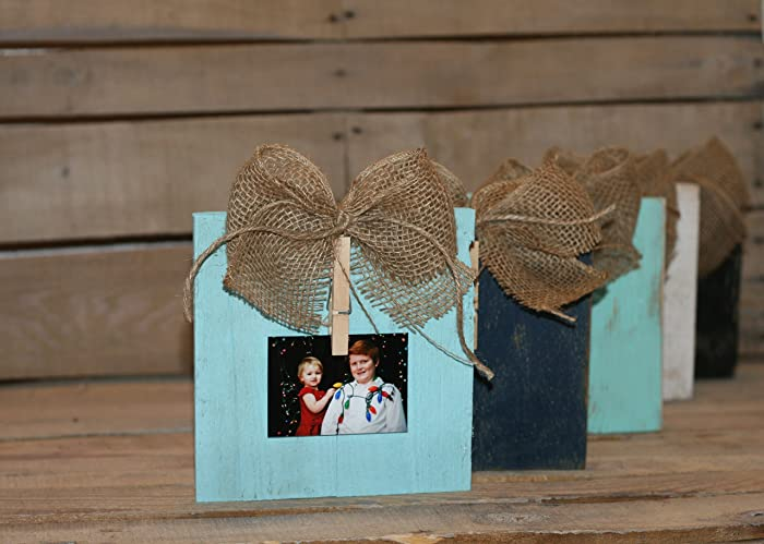 Rustic Clothespin Pallet Wood Picture Frame Photo Hanger Shabby Chic Holder