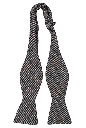 Necktie - Beige, blue, brown & red stripes on twill Notch