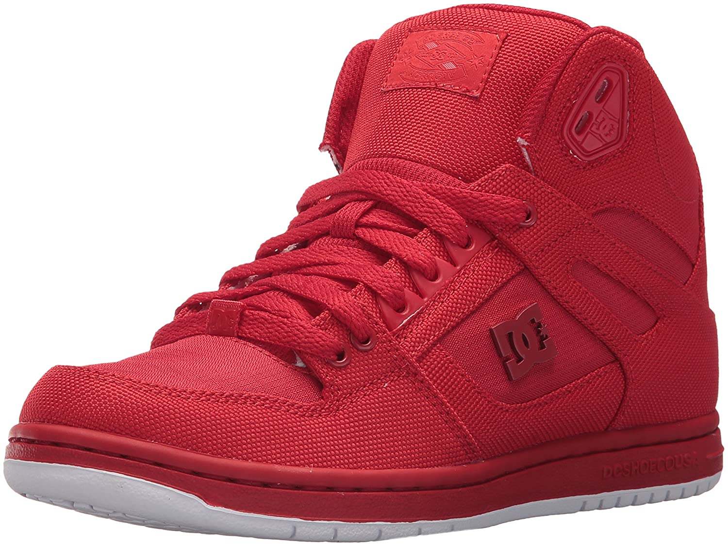 DC Women's Pure High-Top TX SE Skate Shoe B07321HRF4 7 B(M) US|Red/Red/Red