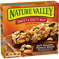 6-Pack of 6-Count Nature Valley Sweet and Salty Nut Granola Bars (Dark Chocolate Peanut & Almond)