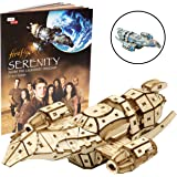 """Firefly Serenity Book and 3D Wood Model Kit - Build, Paint and Collect Your Own Wooden Model - Great for Kids and Adults,12+ - 6.5"""" x 4.25"""""""