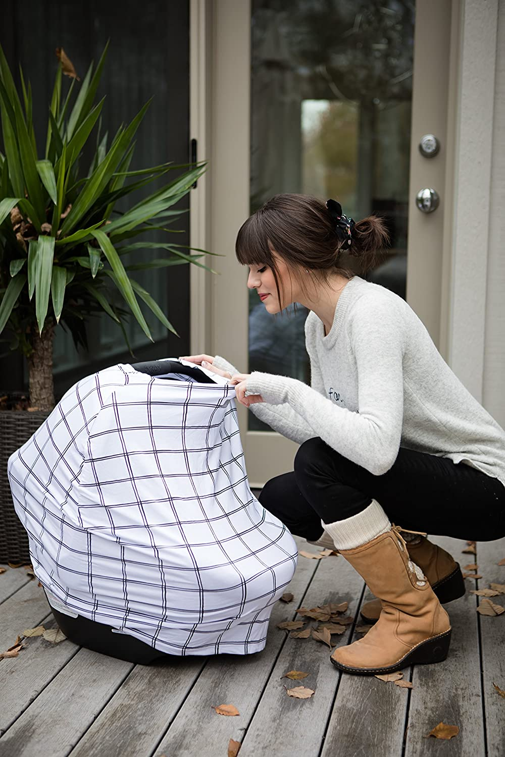 Multi-Use Mom Boss Breastfeeding Cover Cart Cover /& Scarf Shopping Cart Cover /& Infinity Scarf Breathable Itzy Ritzy 4-in-1 Nursing Cover Floral Car Seat Cover Car Seat Canopy