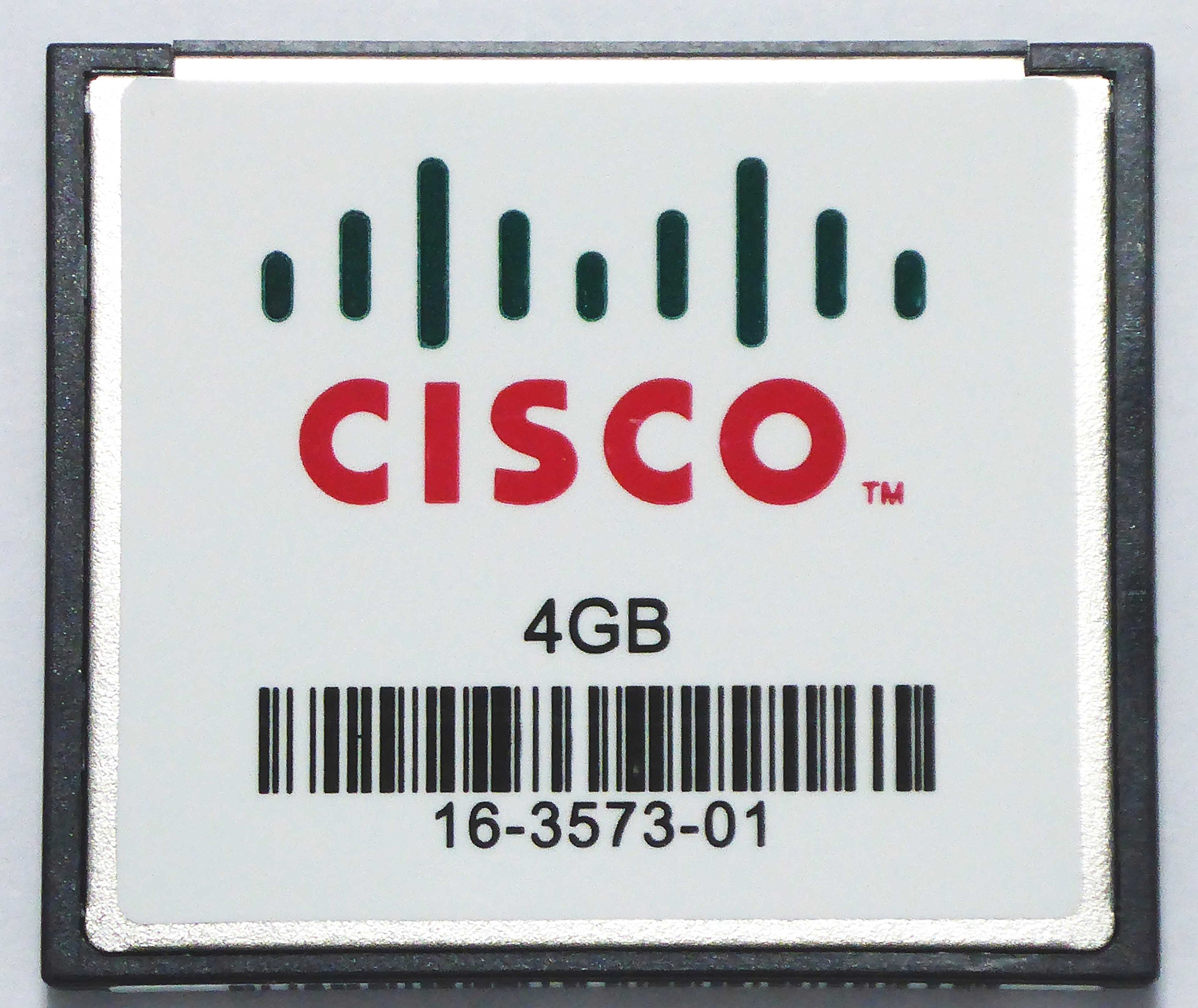 Cisco MEM-CF-4GB= Flash memory card - 4 GB - CompactFlash - for Cisco 1921 4-pair, 1921 ADSL2+, 1921 T1, 19XX, 29XX, 3945 ES24, 39XX by Cisco (Image #1)