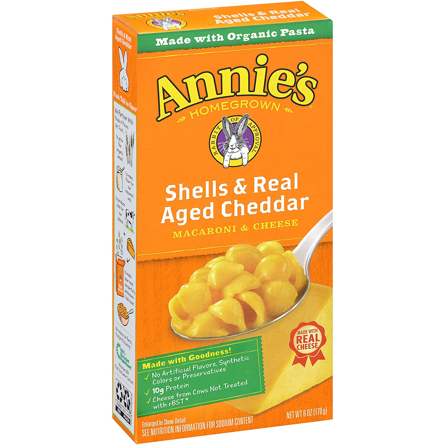Amazon Annies Macaroni And Cheese Shells Aged Cheddar Mac