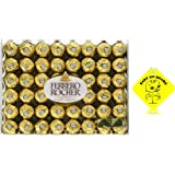 Chocolate Assorted Ferrero Rocher Fine Hazelnut Chocolates, Flat 48 Count, 21.2 oz. With Free Inspiration Baby on Board (48 Count)