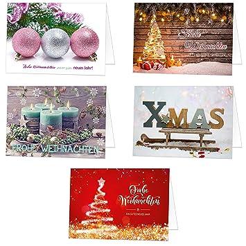 Weihnachtskarten Exklusiv.Papersky 100 Exklusive Weihnachtskarten Klappkarten Mit Umschlag