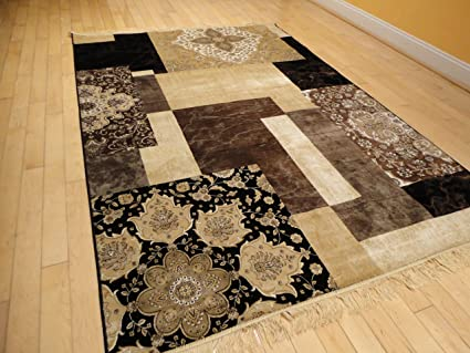 Amazon Com Luxury Silk Area Rugs 5x8 Modern Rug For Living Room