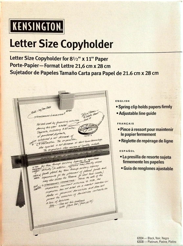 lettre x cash Amazon.: Kensington Letter Size Copyholder (62034B) : Office  lettre x cash