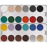 Maquiagem compacta Paleta 24 cores Aquacolor, Kryolan, K