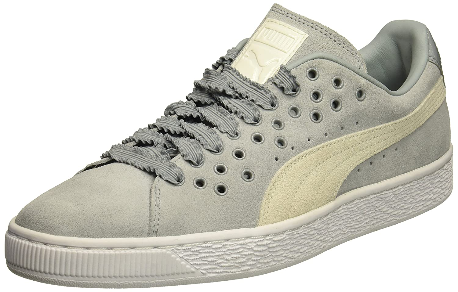 PUMA Women's Suede XL Lace Wn Sneaker B01MXYV336 10 M US|Quarry-marshmallow