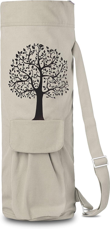 BalanceFrom GoYoga Full Zip Exercise Yoga Mat Bag with Multi-Functional Storage Pockets