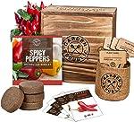 Indoor Garden Pepper Seed Starter Kit - 4 Non GMO Hot
