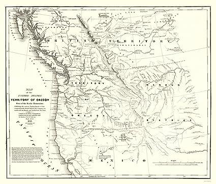 Map Of America Oregon.Amazon Com Old North America Map Oregon Territory Map