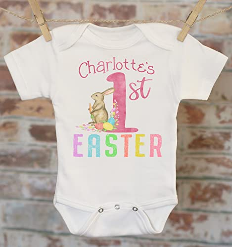 Amazon first easter personalized onesie custom baby onesie first easter personalized onesie custom baby onesie baby shower gift 1st easter negle Images