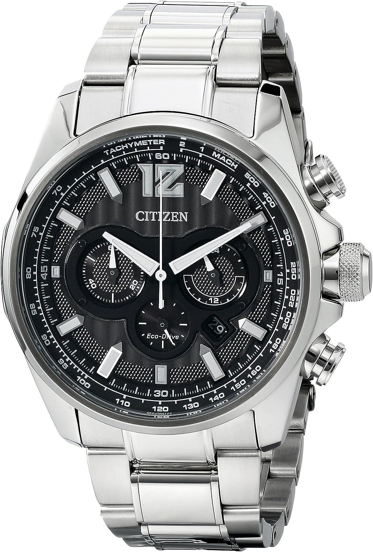 Citizen Men s CA4170-51E Shadowhawk Eco-Drive Stainless Steel Bracelet Watch