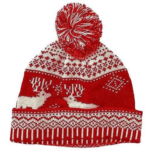 Christmas winter bobble hat blue red novelty santa beanie one size christmas winter bobble hat blue red novelty santa beanie one size fits all xmas solutioingenieria Choice Image