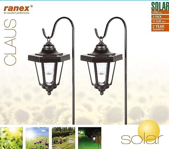 Kit de farol Claus Ranex GOS-001-DB - Energía solar - 2 unidades: Amazon.es: Iluminación
